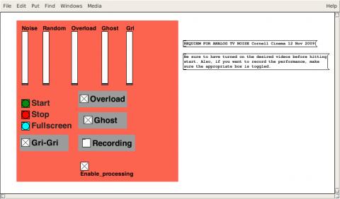 TV Noise pure data patch screenshot