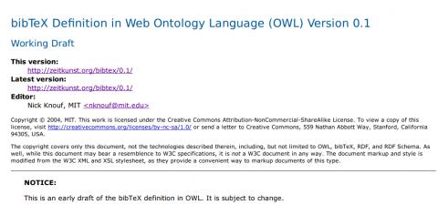 Specifications document screenshot