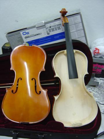 Violin disassembled