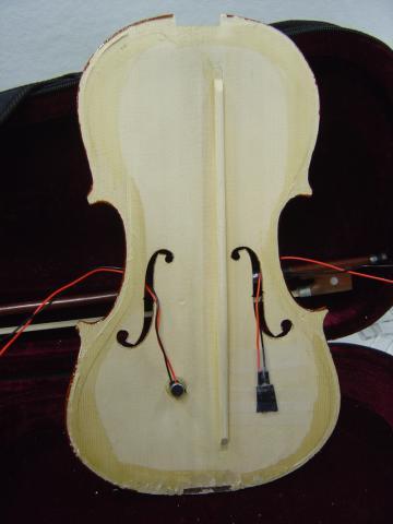 Violin with sensors