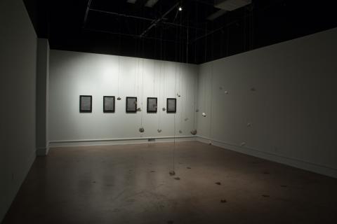 Installation view at Wichita State University