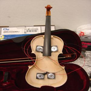 Violin with speakers